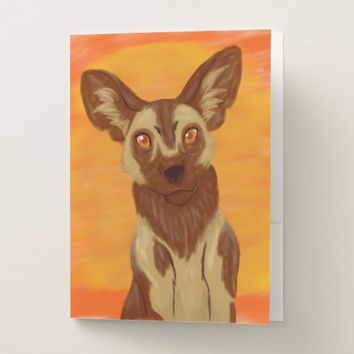 African Wild Dog Pocket Folder