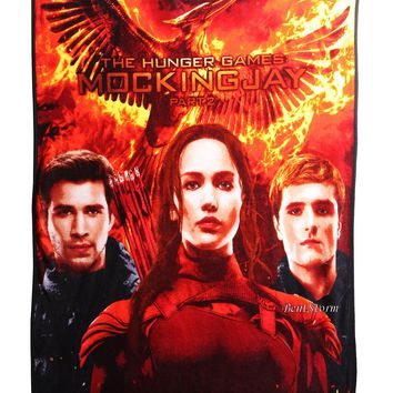 Licensed cool Hunger Games Mockingjay Part 2 SUPER PLUSH THROW BLANKET 50X60  PRIORITY NEW