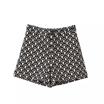 Women's Fashion Print Pants Shorts [4919626692]