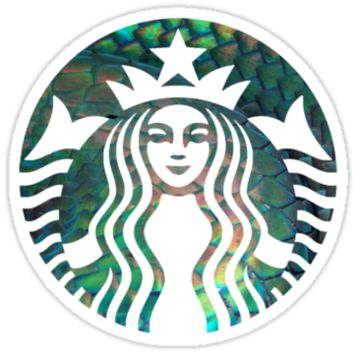 Starbucks Mermaid Green Scales Logo - Hipster/Tumblr/Pretty/Trendy Meme by Vrai Chic