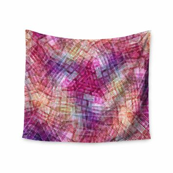 """Justyna Jaszke """"Mandala Colors Of Life"""" Multicolor Pastel Abstract Pattern Digital Illustration Wall Tapestry"""