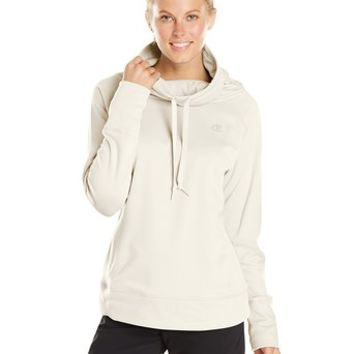 Champion Women's Pullover Funnel Neck Powertrain Performance Fleece Hoodie
