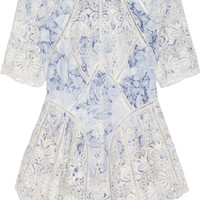 Zimmermann - Confetti embroidered cotton-voile top