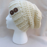 Choose Your Color! ~ Crochet Slouchy Beanie ~ Coconut Buttons