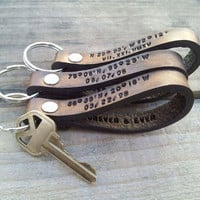Keychains for Couple, Leather Keychain, Couple Keychains, Personalized Couples Keychain, Couple Key Chains