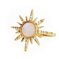 Elizabeth Stone | Gemstone Starburst Ring - Moonstone