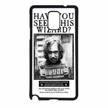 Sirius Black Wanted Poster Samsung Galaxy Note 4 Case