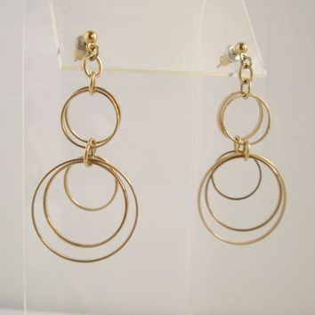 Delicate 5-Hoop Dangle Earrings Jewelry for Pierced Ears