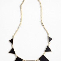 Women's House of Harlow 1960 Leather Station Necklace