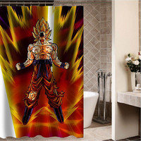 "dragon ball z battle of gods Custom Shower curtain,Sizes available size 36""w x 72""h 48""w x 72""h 60""w x 72""h 66""w x 72""h"