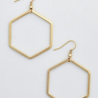 Minimal Geo Gal Earrings by ModCloth
