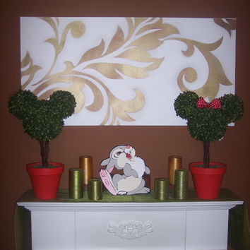 Mickey & Minnie Mouse Topiary Trees set