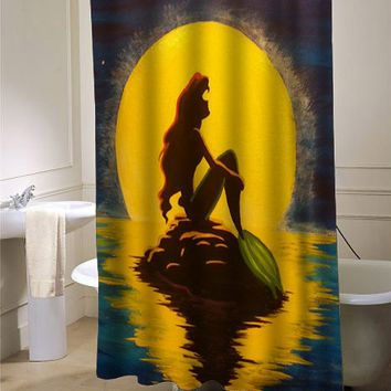 ariel the little mermaid shower curtain - myshowercurtains