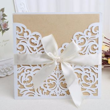 Wedding Invitation Cards Kit with Envelopes