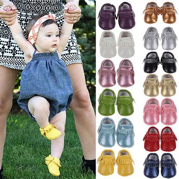 Spring Baby Shoes Newborn PU Leather Baby Moccasins Shoes For Girls Kids Newborn Boys Sneakers First Walkers