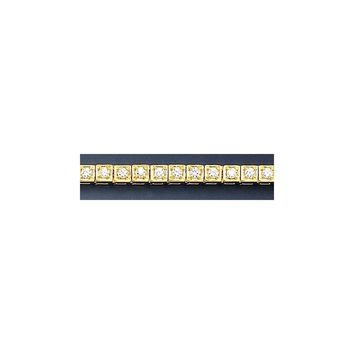 14k Yellow Gold Square Link Diamond Tennis Bracelet