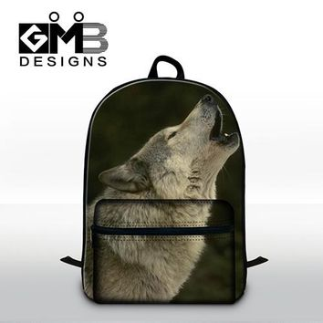 Cool Backpack school Wolf Pattern School backpacks for boys mens traveling back pack cool bookbags with laptop compartment for teens day back pack AT_52_3