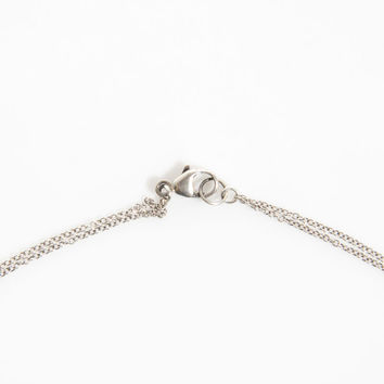 "CHAN LUU 15.5"" 19-Ct Diamond SS Bar Necklace in Silver"