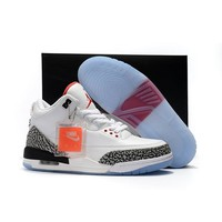 Air Jordan 3 Retro Free Throw Line White/Black-Fire Red-Cement Grey AJ3 Sneakers - Best Deal Online