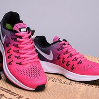 """Nike Air Zoom Pegasus 33"" Women Sport Casual Multicolor Fly Knit Sneakers Running Sho"