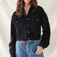 Urban Renewal Recycled Cropped Corduroy Shirt | Urban Outfitters