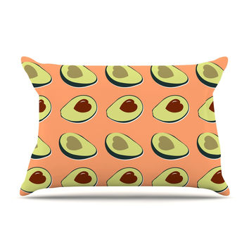"KESS Original ""Avacado Love"" Green Food Pillow Sham"
