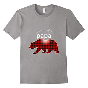 Papa Bear Shirt Red Buffalo Plaid Family Bear Apparel