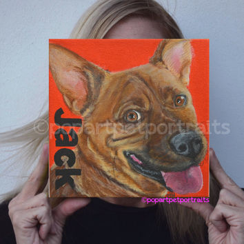 Custom dog portrait dog painting custom pet painting custom pet portrait pet portraits custom dog painting  pop art pet portraits