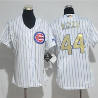 Women's Chicago Cubs #44 Anthony Rizzo Majestic Cool Base Player Jersey