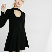 Sweater Choker Dress