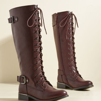 By Land, Sea, or Flair Boot in Mahogany | Mod Retro Vintage Boots | ModCloth.com