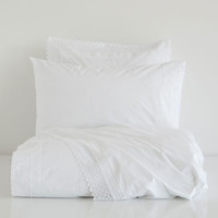 WHITE EMBROIDERED PERCALE BEDDING - Bedding - Bedroom   Zara Home United States