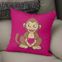 «Monkey love», Numbered Edition Coussin by Savousepate - From 25€ - Curioos