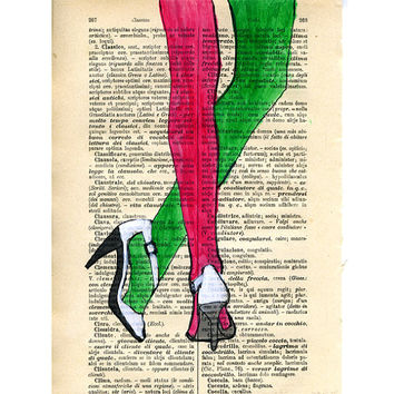 legs dictionary art illustration italian vintage by VincenzoRizzo