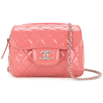 Chanel Vintage CHANEL Quilted CC Chain Shoulder Bag - Farfetch