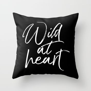 Wild At Heart V2 Throw Pillow by Wall Threads