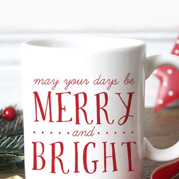 Merry & Bright Christmas Coffee Mug