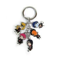 Naruto Shippuden 5 Figure Metal Key Chain