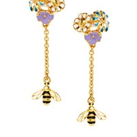 Bill Skinner Floral Bug Drop Earrings at asos.com