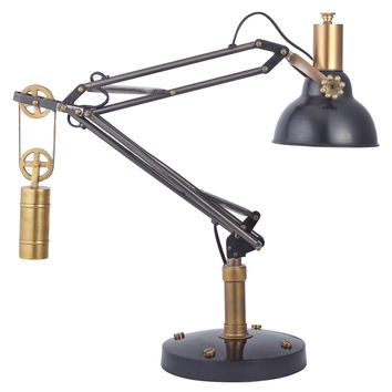 Manchester Black Table Lamp