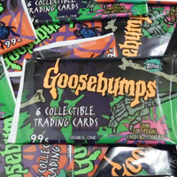 1 Pack Goosebumps Vintage RARE Trading Cards Wax Pack scrap book
