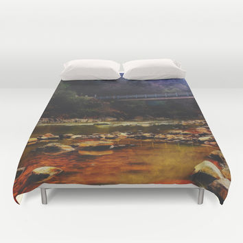 River Crossing Duvet Cover by DuckyB (Brandi)