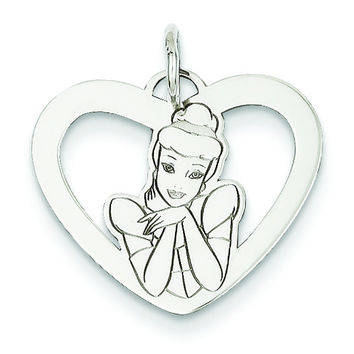 Sterling Silver Disney Cinderella Heart Charm WD226SS