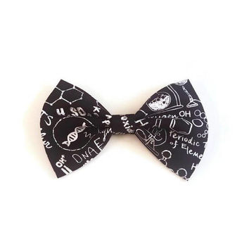 Science Bow • Blackboard Bow • Chemistry Bow • Gifts for Girls • Girl Power Bow • Gifts For Women • Teacher Gift •  Christmas Gifts