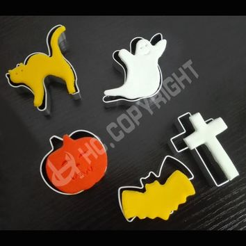 Hot Sale 2 Pieces Cookie Cutter Set DIY Halloween Series Biscuit Mold Confectionary Cupcake Decor Baking Tools