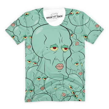 870b08c7e44 Handsome Squidward Collage T-Shirt