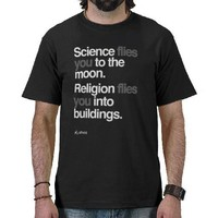 Atheist - Science Flies to the moon T Shirts from Zazzle.com