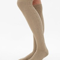 Women's Cable Knit Socks in Khaki by Daytrip.
