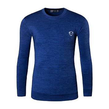 Autumn and Winter Men Designer Turtleneck T Shirt Casual Slim Fit Thermal Shirts Tops