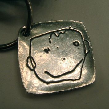 Your Childs Artwork Made into a Key Fob or by surfingsilver